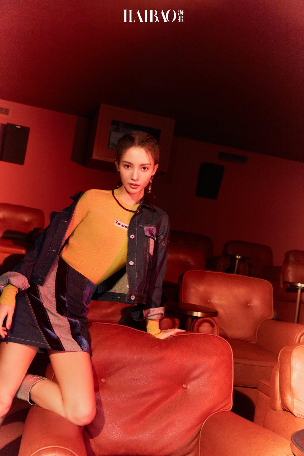 金晨大片变港风少女 将时髦与复古元素诠释的恰到好处