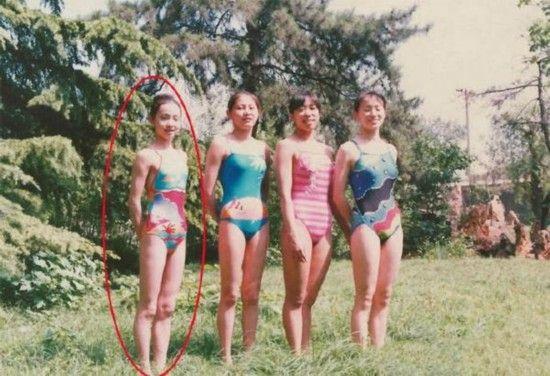 陶虹年轻时旧照被曝光 竟是一名游泳运动员