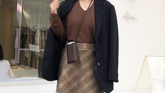 大衣怎么穿搭好看 呢大衣+针织衫早春最佳组合