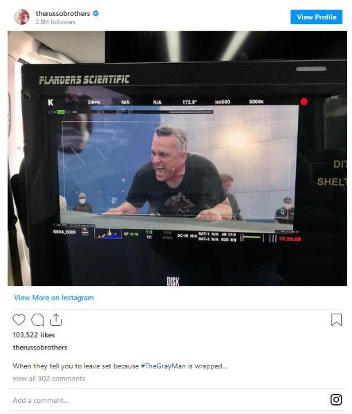 羅素兄弟執導《灰色人》曝光幕后照 暫無上線計劃